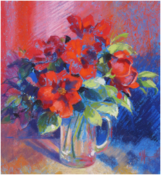 A Jug of Red Roses