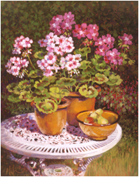Geraniums on the Table